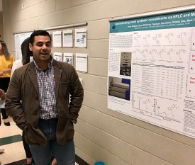 Terry presenting at the department poster competition
