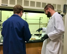 Jonathan and David in the lab